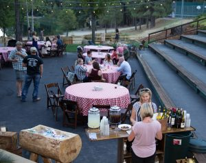Rehersal BBQ at Snowflake Lodge